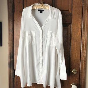 Calvin Klein Jeans White Blouse 3X